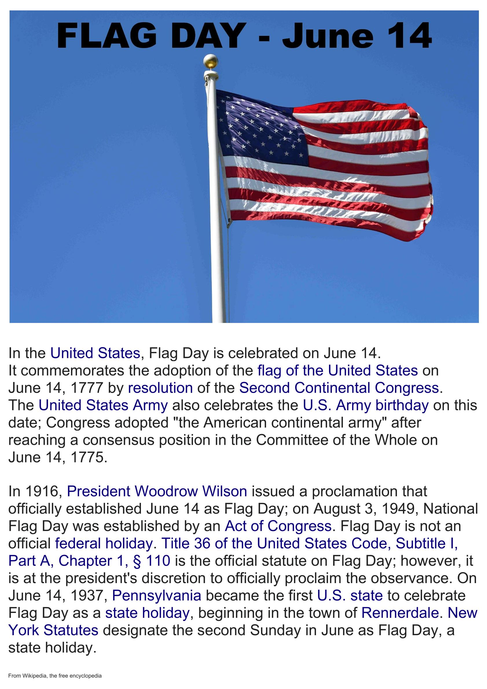 Flag Day condensed